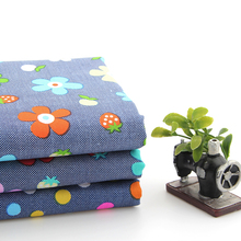 3pcs Dark Blue Floral Series Patchwork Cotton Fabric Fat Quarter Bundles Textile Sewing Quilting Fabric For Bag Baby Clothes
