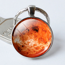 Venus Pendant Venus Keychain Venus Jewelry keyrings galaxy universe space planet Key Chain  Christmas Gift