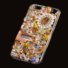 3D Luxury Bling Crystal Diamond Phone Case For Nokia Lumia 800 N800 Girly Pink Sparkle Jewelry Coque Fundas Cover Skin Pink Capa