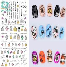 Rocooart DS148 2017 Water Transfer Nails Art Sticker Nail Polish Figure Bottles Nail Wrap Sticker Manicura nail art decorations(China)