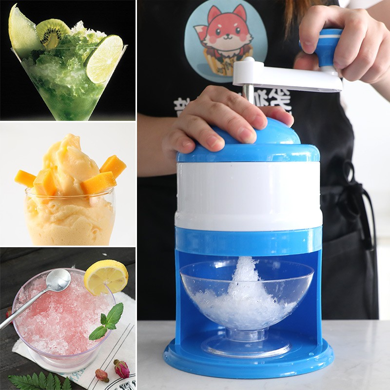 320ML Mini Snow Manual Crushed Ice Machine Ice Crusher Shaver Machine DIY Household Ice Crushers Shavers<br>