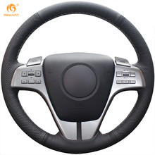 MEWANT Black Artificial Leather Car Steering Wheel Cover for Mazda 6 Atenza 2009-2013