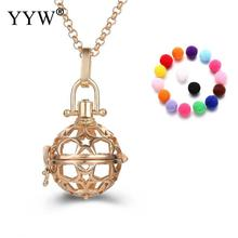 New Essential Oil Diffuser Necklace Locket Pendant Necklace Diffuser Pendant Rolo Chain for Woman Parfum Women Perfume(China)