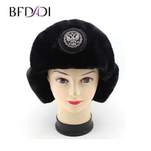 BFDADI 2018 Bomber Hat Female Winter Hats For Men Women Thick Warm Russian  Cold Cap Bone Male Ear Protect Snow Hat Ear Flap 04263f3d5902