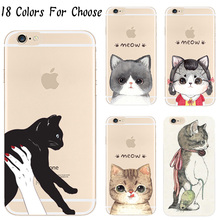 5/5S/SE Hard Plastic Cover For Apple iPhone 5 5S SE Case Cases Phone Shell Coated With The Cat Charm Luxury Mobile Phone Shell