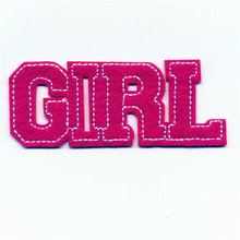 Bomber Down Jackets The Pink GIRL Letter Embroidery Patches Iron On Or Sew Fabric Sticker For Clothes Badge DIY Size 3.5cm*8.5cm