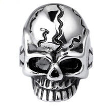 RR3 skull Unadjustable Ring 1 PC Top-Grade Plated New Arrival Exquisite Stainless Steel Finger Ring Wholesale Price(China)