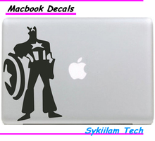 Hero Captain America for apple Sticker Macbook Skin Air 11 12 13 Pro 13 15 Retina Decal Loptop Wall Car Vinyl Logo Case