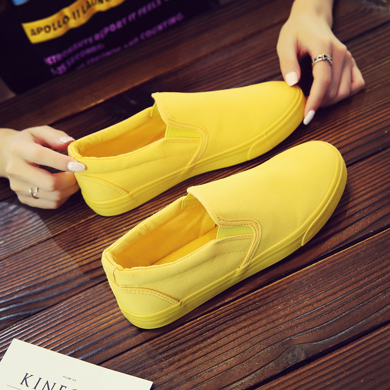 Women Vulcanize spring auntum Shoes Summer Breathable fashion Trainers Casual Shoes Cheap yellow Canvas Platform Shoes Sneakers (11)