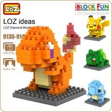 LOZ Diamond Blocks Micro Pixels Cute Animals Bricks Building Assembly Toy Action Figure Educational Dragon Kids Gift 9136-9143(China)