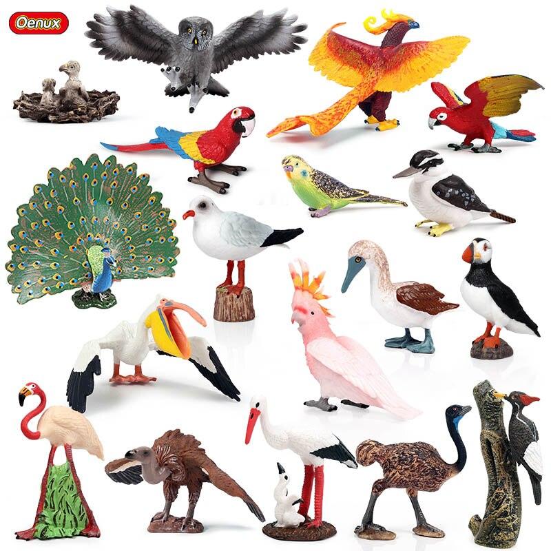 Seagull Owl Realistic Wild Farm Animal Model Pet Figurine Toys Home Decor Dog