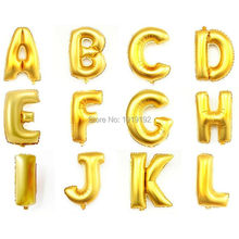 Gold Letters inflatable 16 inches foil balloons colorful dots printing Happy Birthday Party Wedding Decoration Children Gifts