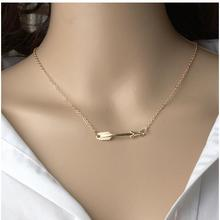 xl201 Women clavicle arrow pendant necklace fashion jewelry bohemian minimalist necklaces summer beach jewelry