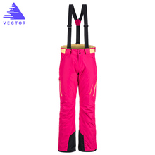 VECTOR Brand Professional Ice Ski Pants Women Waterproof Snow Pants Winter Warm Snowboard Pants Outdoor Skiing Pants 50017(China)