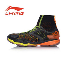 Li Ning Original Men Ranger Professional Badminton Shoes High Cut Cushion BOUNSE+ LiNing Sports Shoes Sneakers AYAM009(China)