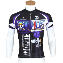 Men Cycling Jersey Anime One Piece Brook Cycling Clothing Men Bike Short Sleeve Cycling Jersey X072
