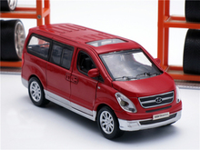New Hyundai starex Diecast metal car 1:38 scale model vehicle with pull back function/light/engine sound/3 openable doors