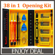 Kaisi multipurpose 38 in 1 Precision Screwdrivers Kit Phone Opening Repair Tools Set for iPhone 4/4s/5 iPad Samsung(China)