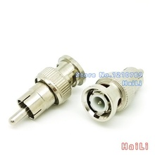 5pcs BNC Male to RCA male Coax Cable Connector Adapter F/M Coupler for CCTV Camera cable connector accessories