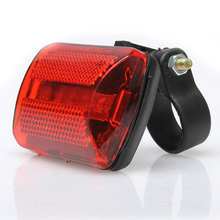 New Arrival Bike Bicycle 5 LED Rear Tail Light Bike Bicycle Red Back Light Safety Warning Flashing Lights Free Shipping