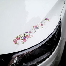Korean Beautiful Flowers Sports Mind Car Stickers Eyebrow Captivating Sports Styling Auto Racing Decor Graphic Decoration Decals
