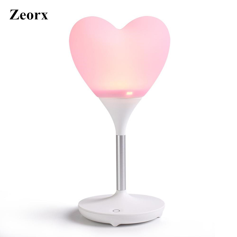 ZEORX Love Heart Balloon Light Led Night Light Charging Babies Lamp Wireless Led Bedroom Lamp Reading Lamp Light(China (Mainland))
