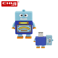 CHYI Cute Cartoon USB Flash Drive Pen Drive Blue Old Man with White Beard Robot Memory Stick 4/8/16/32/64GB Pendrive Hot Sale(China)