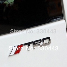 3D Metal TRD Sticker Decal Car-Styling For TOYOTA RAV4 hilux corolla 2014 avensis rav4 auris yaris car accessories