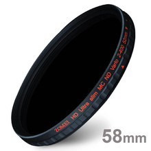 Zomei 58mm PRO Slim HD ND2-400 ND2 to ND400 Neutral Density Fader Variable MC ND Filter for Canon NIkon Sony Camera Lens 58 mm