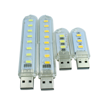 10 piece 3Leds or 8leds 5730 Mini led USB Lamp 30mm or 100mm portable Lighting Computer Small Night Light Free shipping