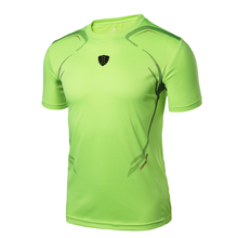 2017 New Soccer Jerseys LINGSAI Brand men Designer 3D printing T Shirt sports Quick Dry Slim Fit Breathable shirts Tops & Tees(China)