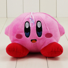 Cute Anime Kirby Plush Toys Pink Stuffed Dolls Sitting Pose Doll Plush Pendant Toy Gifts for Kids(China)