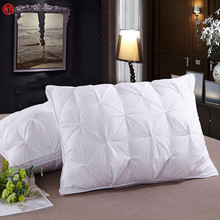 LUCKY TEXTILE 48*74cm white luxury bread style bread pillow cotton fabric polyester filling neck pillow healthcare for sleeping(China)