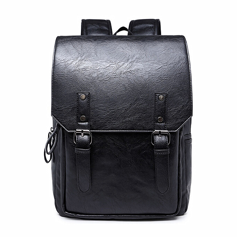 Men Backpack Big Size Travel Bag PU Leather Backpack Student School Bags For Teenagers Famous Brands Women Laptop Backpacks J99<br><br>Aliexpress