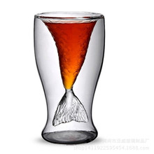 Creative Gifts Mermaid Transparent Glass Mug Vodka Whiskey Shot Drinking Cup,Insulation Cup,Thermo cup Coffee Tea Mug
