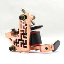 Professional Handmade Tattoo Machine 10-Wrap Coils Iron Cast Frame Custom Tattoo Gun For Liner Shader Free Shipping TM-811(China)