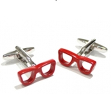 iGame Factory Price Retail Red Glasses Cuff Links Sexy Lady Design Free Shipping(China)