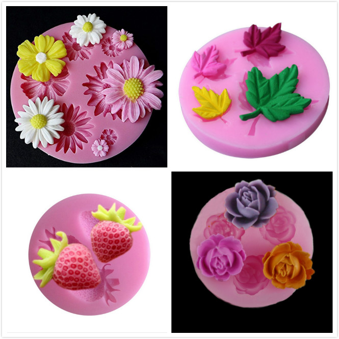 3D Silicone Mold Sun Rose flower Car Owl Shape Mould For Soap,Candy,Chocolate,Ice,Flowers Cake decorating tools