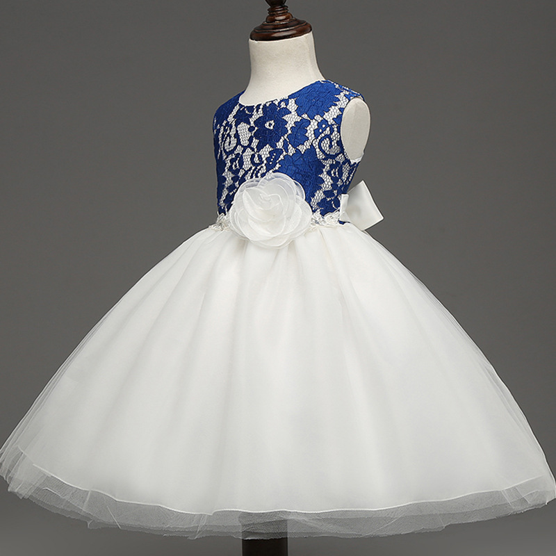 Infant Wedding Dress Formal Pageant Ball Gowns For Girls Fashion Baby Blue Evening Dress Floral Prom Dress Children Party 2.2<br><br>Aliexpress