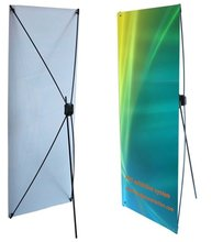 "Tripod Trade Show Display Economy X Banner Stand 24""x63"