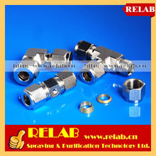 50 PCS Tee Connector, 1000PSI Misting System Compression fittings, freight via express to door(China)