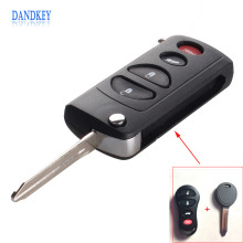 Dandkey Collapsible Key 4 Buttons Remote Folding Key Uncut Blank Flip Shell Case For Cressler Chrysler Dodge Jeep Free Shipping(China)