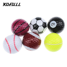 Kofull 6pcs/lot Novelty Sports Practice Golf balls ballen Two Layer Golf pelotas Assorted Golf Ball Driving Range Ball