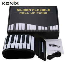 New Arrival Silicone Flexible Keyboard MIDI Roll up Electronic Piano USB 88 Keys Musical Instruments