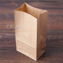 mini  small craft kraft Stand up Colorful Polka Dots Paper Bags 18x9x6cm Favor Bag Open Top Gift Packing Bags Treat Bag  50pcs