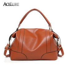 ACELURE Classic Soft Leather Handbags Big Women Tote Zipper Ladies Shoulder Bag Girl Quality Hobos Bags New Arrival Shopping Bag(China)