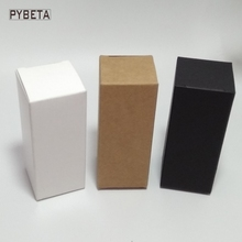 "50pcs/lot-6*5*15cm (2.3""*1.9""*5.8"") Blank White Black Kraft Paper Box for Handmade Soap Candle Sample valve tubes package(China)"