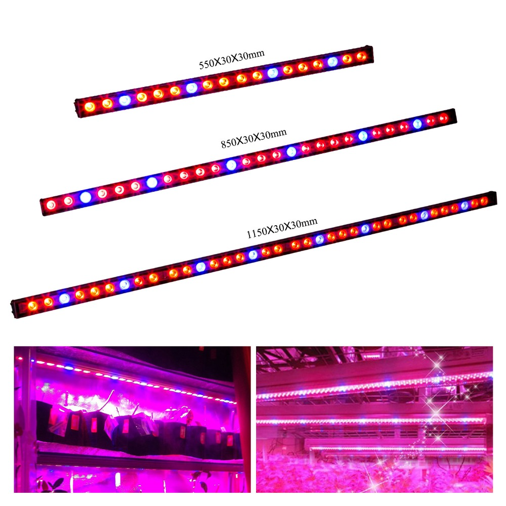 1pcs 54W/81W/108w Waterproof Led Grow Lights Bar LED Plant Strip Lamp Red/Blue for winter vegetables Lighting indoor greenhouses(China)