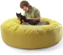 Cover only No Filler-yellow round island bean bag chair, outdoor sofa cover ,hug pets chair, sofa beanbag(China)