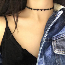 Heart Chokers Fashion Gothic Hollow Black Suede Cocktail False Collar Chockers Necklaces for women Bijoux  2017 chokers